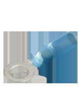 CTWP22 Blue Glued Heatshrink 5mm Ring Terminal