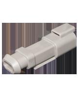 DT04-2P-E008 Deutsch DT Series 2 Pin Receptacle with Heatshrink End