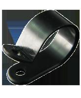 "NP19B 19mm Nylon ""P"" Clip – 4.6mm Mounting hole"