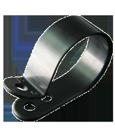 "NP25B 25mm Nylon ""P"" Clip – 4.6mm Mounting hole"