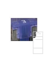 QVLPM3BL 3 Amp Low Profile Mini Blade Fuse