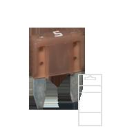 QVMIN5BL 5 Amp Mini Blade Fuse