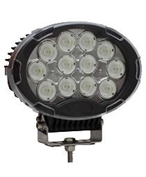 QVWL120WF 120w High Powered Oval LED Worklamp – Flood Beam