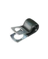 """CMPC10/10 9.5mm PVC Coated Zinc """"P"""" Clip 10mm mounting hole"""