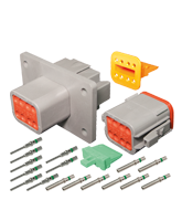 DT8FL-KIT Deutsch 8 Pin Flange Mount DT Series Complete Connector Kit