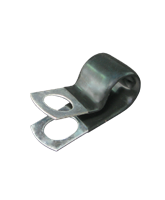 """CMPC13/10 12.7mm PVC Coated Zinc """"P"""" Clip 10mm mounting hole"""