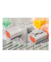 DT4FL-KIT Deutsch 4 Pin Flange Mount DT Series Complete Connector Kit