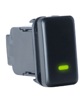 QVSWHL4 Large Toyota Blank Switch with Green Illumination On-Off