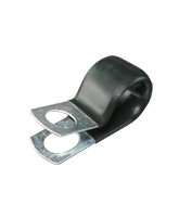 """CMPC16/10 15.9mm PVC Coated Zinc """"P"""" Clip 10mm mounting hole"""