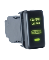 QVSWHL5 Large Toyota Bar Light Switch with Green Illumination On-Off