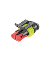 QV282080-1 Superseal 2 Circuit Male Housing