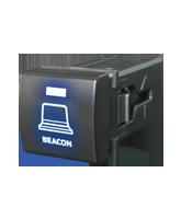 QVSWPL1BBL Square Toyota Beacon Switch with Blue Illumination On-Off