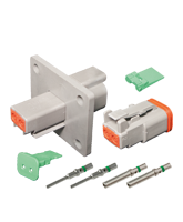 DT2FL-KIT Deutsch 2 Pin Flange Mount DT Series Complete Connector Kit