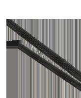 ES2040 40mm Expanded Diameter Black Flexible Braided Sleeving