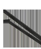 ES1230 30mm Expanded Diameter Black Flexible Braided Sleeving