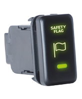 QVSWHL10 Large Toyota Rear Safety Flag Switch with Green Illumination On-Off
