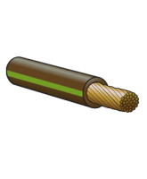 3100BNGN 3mm Single Cable – Brown/Green 100m Roll
