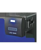 QVSWPL5BBL Square Toyota LED Bar Switch with Blue Illumination On-Off