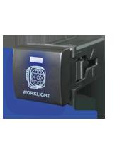 QVSWPL2BBL Square Toyota Worklight Switch with Blue Illumination On-Off