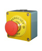 QVTMS03METAL Metal Emergency Stop Switch with 2 x Normally Closed