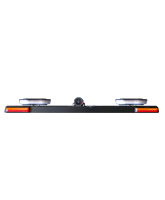 RHBAR1250-NT22L Black Alloy Mine Bar with Dual Slimline Beacon