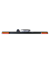 RHBAR1250-NT2R Black Alloy Mine Bar with Slimline Beacon – Right Hand Exit