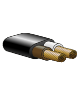 330TSBW 3mm Twin Sheathed Cable Brown/White